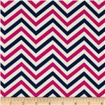 0274185 In the Navy Ziggy Chevron Navy/Pink