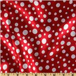 Charmeuse Satin Polka Dot White/Red