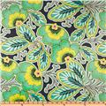 Amy Butler Laminated Cotton Lark Floral Couture Charcoal