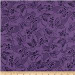 110&quot; Wide Quilt Backing Butterfly Purple