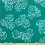 0290505 Michael Miller Stitch Floral Circle Teal