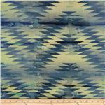 0269723 Indian Batik Chevron Indigo/Purple