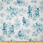 P Kaufmann Fancy Pants Toile Blueberry