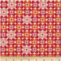 Joel Dewberry Notting Hill Cotton Voile Square Petals Tangerine