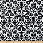 0283899 Minky Cuddle Tulip Damask Black/White