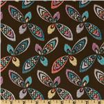 Victoria & Albert Bromley Collection Ikat Burst Brown