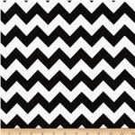 0268152 Riley Blake Flannel Basics Chevron Medium Black