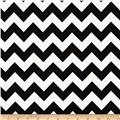 Riley Blake Flannel Basics Chevron Medium Black