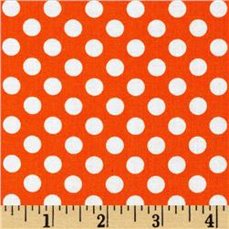 Kaufman Spot On Medium Dot Orange