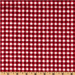Hungry Animal Alphabet Gingham Red