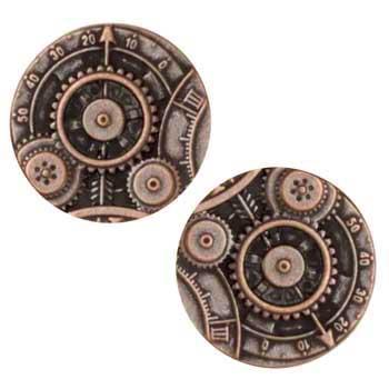 Metal Button 7/8'' Mechanism Copper