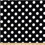 0268139 Riley Blake Flannel Basics Dots Medium Black