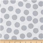 0300463 Michael Miller Cute Zoo Adorable Dots Grey