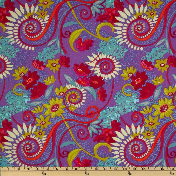 Katharine's Wheel Floral Purple