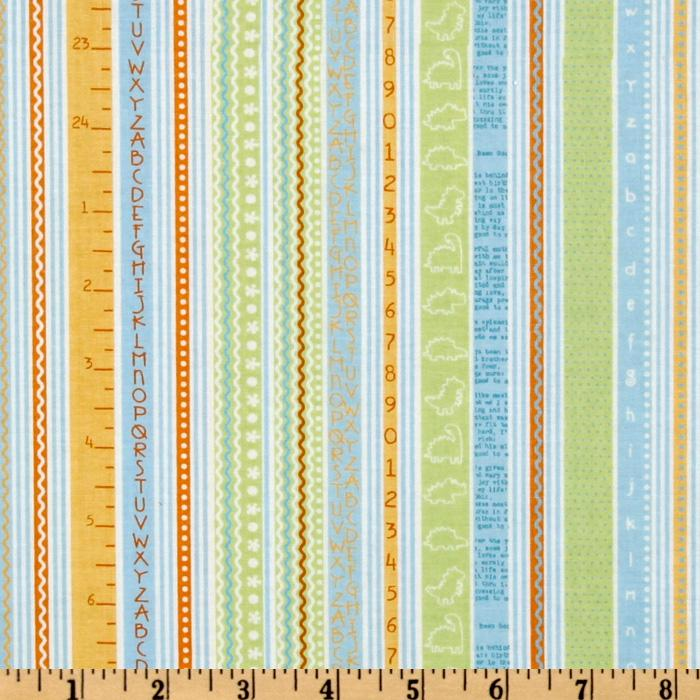 Babysaurus Number and Alphabet Stripe Green