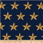 0274673 American Heroes Large Stars Gold/Navy