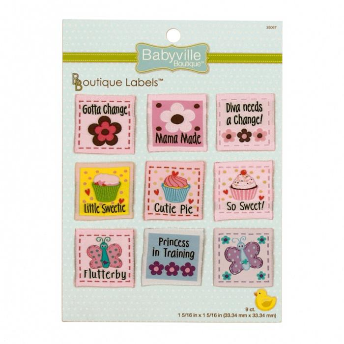 Babyville Boutique Labels Girl Design