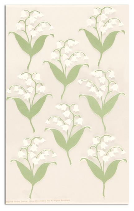 Martha Stewart Crafts Stickers Lily Of the Valley Stickers White