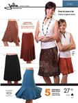 JP-2681 Jalie Pull-On Knit Gored Skirts Pattern