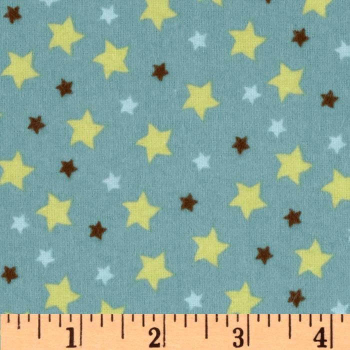Mod Tod Flannel Star Blue
