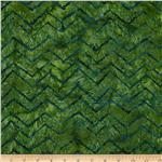 0300886 Tonga Batik Zig Zag Jungle Green