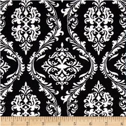 Flannel Damask Black