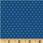 FU-070 Riley Blake Zoofari Dots Blue