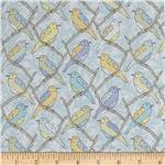 Victorian Modern Birds Lavender