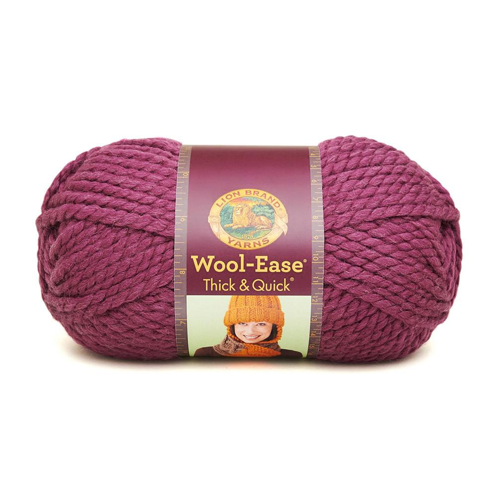 Lion Brand Wool-Ease Thick &amp; Quick Yarn (146) Fig