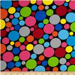 0275387 Dot.Com Jumbo Tossed Dots Black/Brights