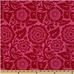 EM-345 Joel Dewberry Heirloom Blockprint Blossom Crimson