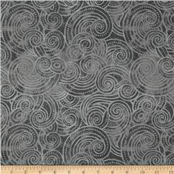 "Essential Dotty Waves 108"" Wide Quilt Back Grey"