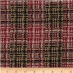 0275551 Wool Blend Coating Chunky Plaid Red/Gold