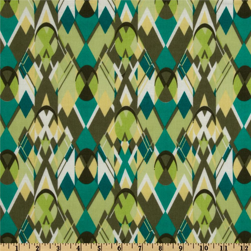 Cotton Lawn Shapes Jade/Olive
