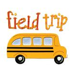Sizzix Bigz Die Phrase, Field Trip w/School Bus