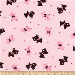 Camelot Flannel Scottie Dogs Pink