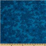 108&#39;&#39; Wide Tonal Bouquet Quilt Backing Turquoise
