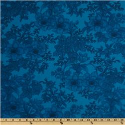 108'' Wide Tonal Bouquet Quilt Backing Turquoise