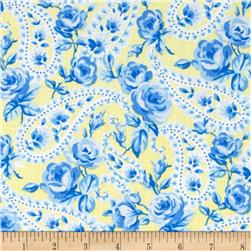 Floral Paisley Yellow/Blue