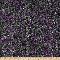 Cleo Birds & Butterfly Mini Floral Vine Lilac/Black