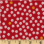 Sugar Blossom Ditsy Floral Red