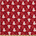FO-012 Merry Christmas Christmas Trees Red