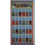 FT-762 All Around The Town Advent Calendar Panel Blue