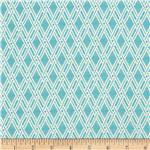 0290935 Robert Allen Basket Form Jacquard Bright Aqua