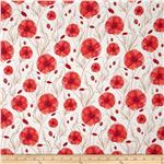 Liberty Of London Tana Lawn Hannah&#39;s Poppy Red/White