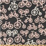 EK-089 Michael Miller It&#39;s a Girl Thing Bicycles Bloom Grey