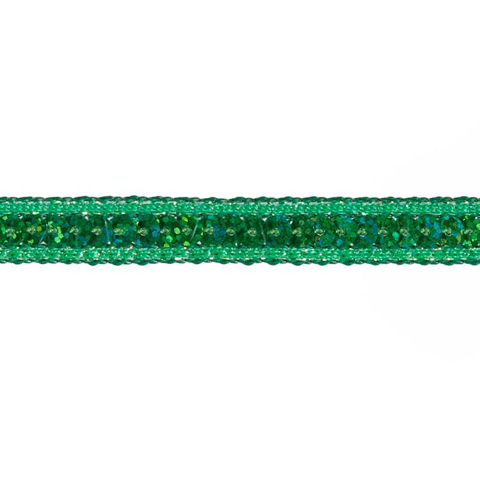 1/2'' Hologram Sparkle Edge Sequin Trim Green