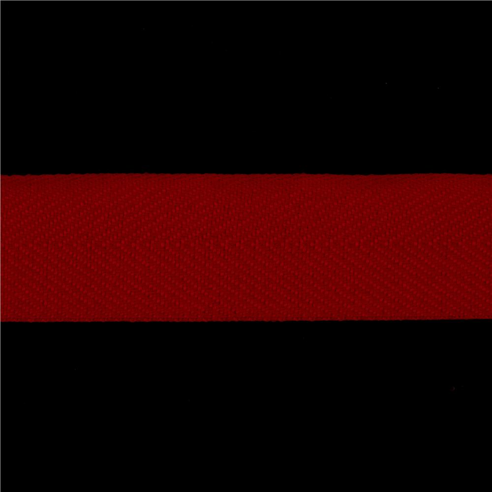 1 1/2&#39;&#39; Poly Twill Tape Ribbon Red