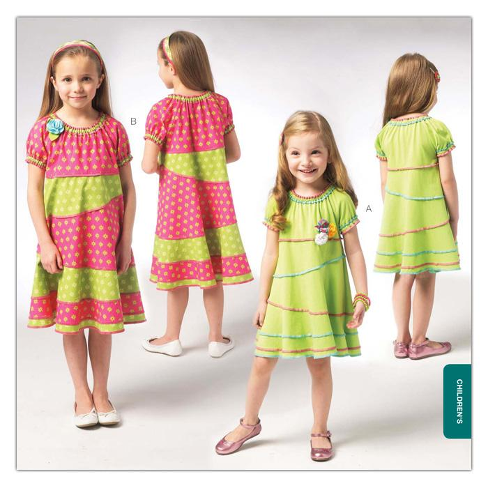 Kwik Sew Girls&#39; Pieced Dress Pattern