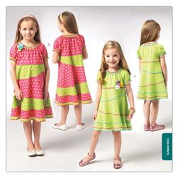 Kwik Sew Girls' Pieced Dress Pattern